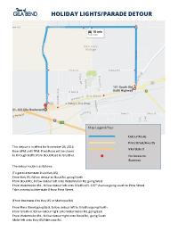 Thumb image showing detour route map and directions.
